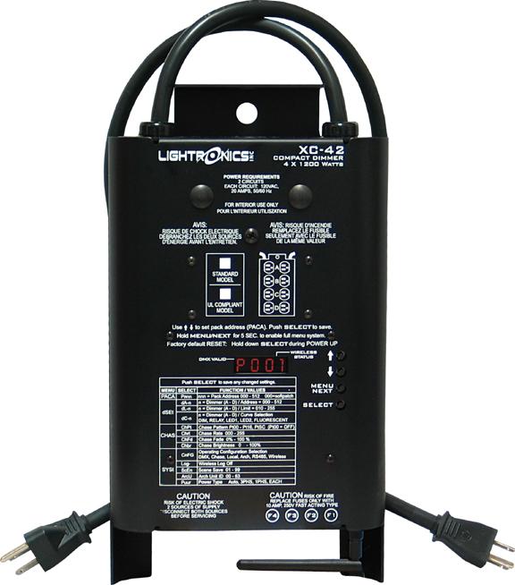 4 Channels x 1200W Wireless DMX Portable Dimmer