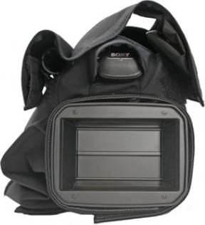 Black Rain Slicker for Sony HDR-AX2000, HXR-NX5U