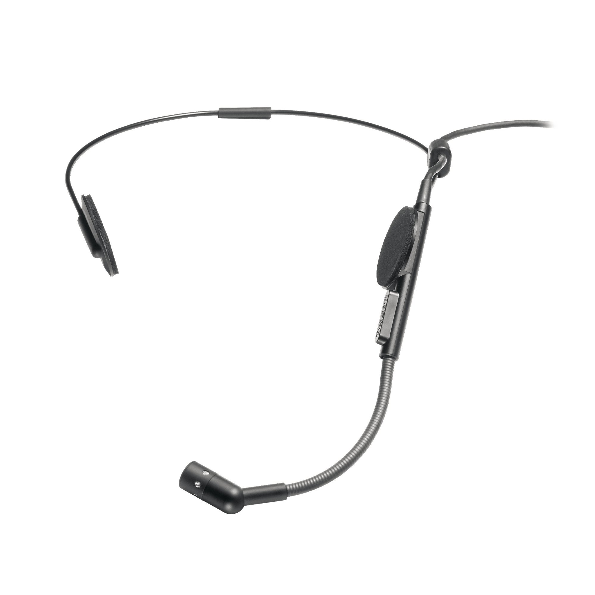 """Audio-Technica ATM73cW Cardioid Condenser Headworn Microphone, 55"""" Cable Terminated with Locking 4-pin Connector for A-T UniPak Wireless Systems ATM73CW"""