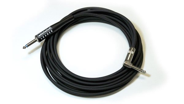 "Instrument Cable, 1/4"" Straight to Right Angle, 15 ft"