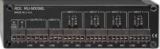 5-Channel Microphone/Line Audio Mixer with Phantom Power