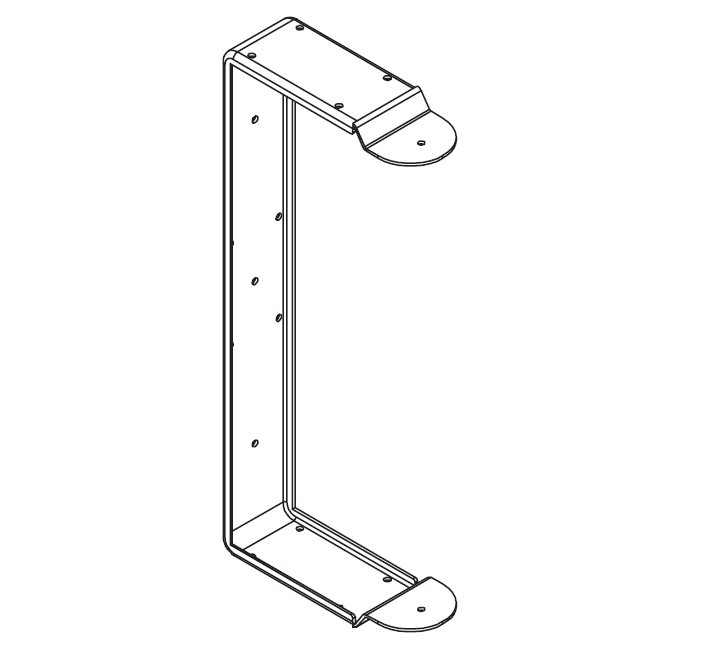 U-Bracket for Wall Mounting of Select EV Speakers, White