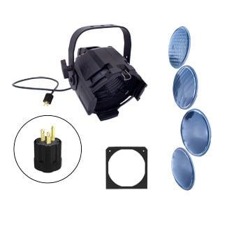 Black Par Fixture with Interchangable Lenses