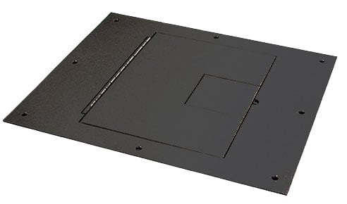 Floor Box Cover with Hinged Door