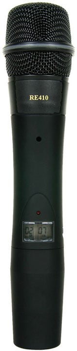 1112 Channel Handheld Transmitter with RE410 Head
