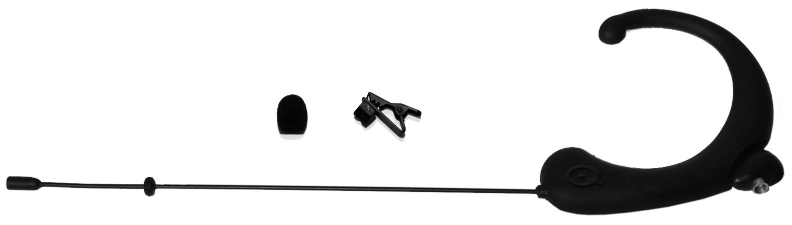 Omnidirectional Single Headworn Microphone in Black with -45dB Sensitivity and NO Adapter (Required)
