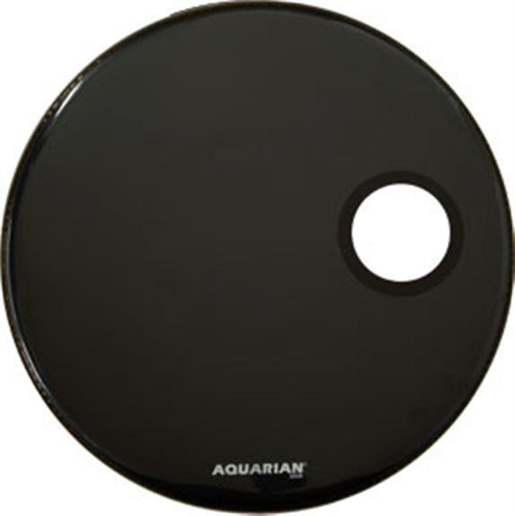 "20"" Regulator Ported Bass Resonant Drum Head in Black"