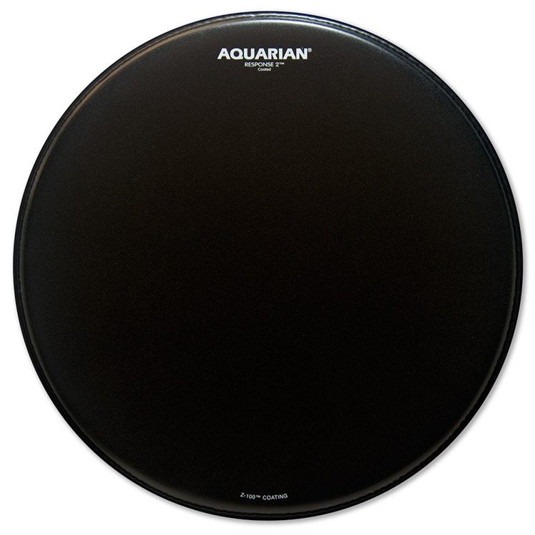 "Aquarian Drumheads TCRSP2-12BK 12"" Response 2 Coated Drum Head in Black TCRSP2-12BK"