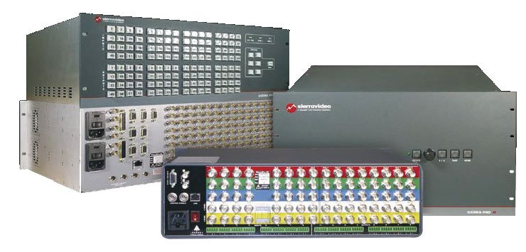 Sierra Video Systems 1608V3SXL Switcher 16x8, 3 Channel Video, Stereo Audio, 6RU 1608V3SXL