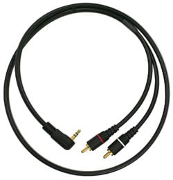"3 ft Pure Patch IP 90 degree 1/8"" TRS to Dual RCA Patch Cable"