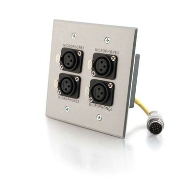 Cables To Go 42336 Wall Plate,RR Quad XLR Female  42336