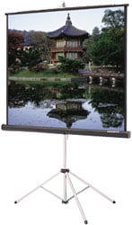 "70"" x 70"" Picture King® Matte White Screen with Keystone Eliminator"