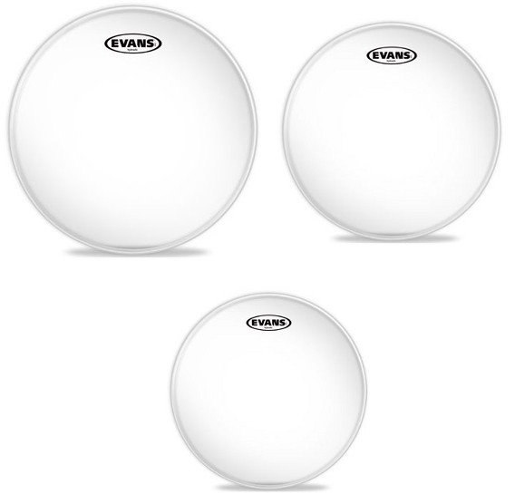 """3-Pack of Hydraulic Glass Rock Tom Tom Drumheads: 10"""",12"""",16"""""""