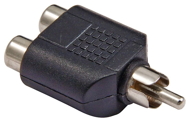 Dual RCA Female to RCA Male Adapter