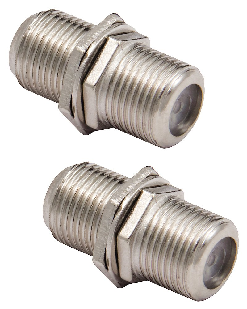 Cable Up by Vu FCF-FCF-ADPTR 2-Pack of Female Coaxial to Female Coaxial Couplers FCF-FCF-ADPTR