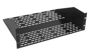 "3U 18"" Vented Utility Rack Shelf"