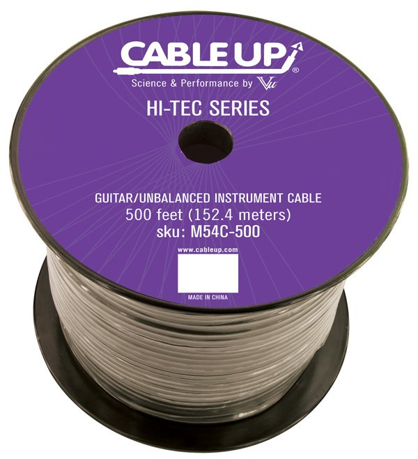 500 ft Spool of M54C Guitar/Instrument Cable
