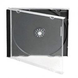 CD Jewel Case, Slimline, Black Tray