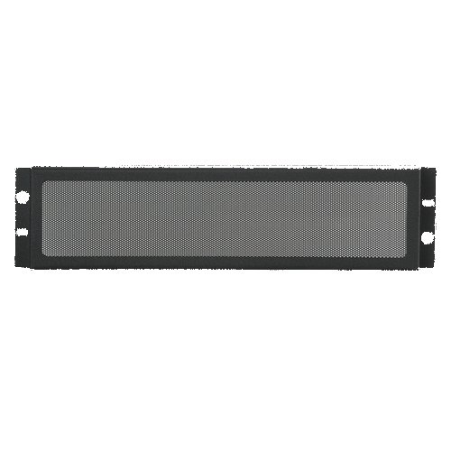 "Rack Mount Security Panel, 19"", 3 RU, Ebony Black"