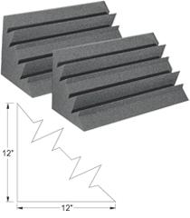 Bass Trap, Corner, LENRD, Designer Series, 1' x 1' x 2', Charcoal Gray,  8Ct.
