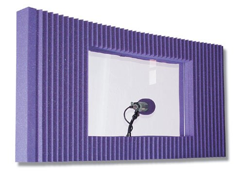 "Auralex MAXWINKITPUR 20"" x 48"" MAX-Wall Panel with Window in Purple MAXWINKITPUR"