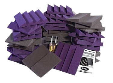 Roominators Acoustic Panel Kit for Small Project Studios in Charcoal Gray/ Burgundy