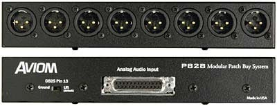 XLR Male/DB25 Module for PB25 Patch Bay