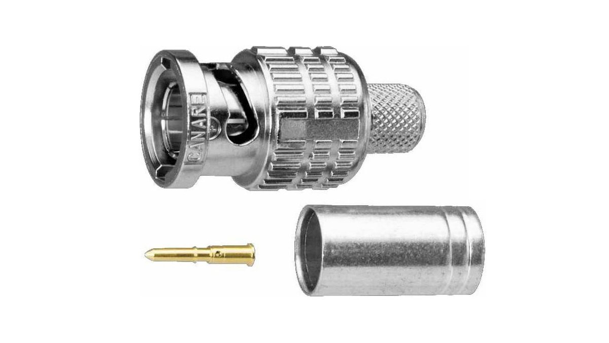 Connector, 75Ohm, Crimp-style, Male