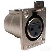 XLR F to Solder Pin, Classic A/V Flush Mount Jack