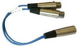 Y Adapter, 2 x 3-pin XLR to 6-pin XLR