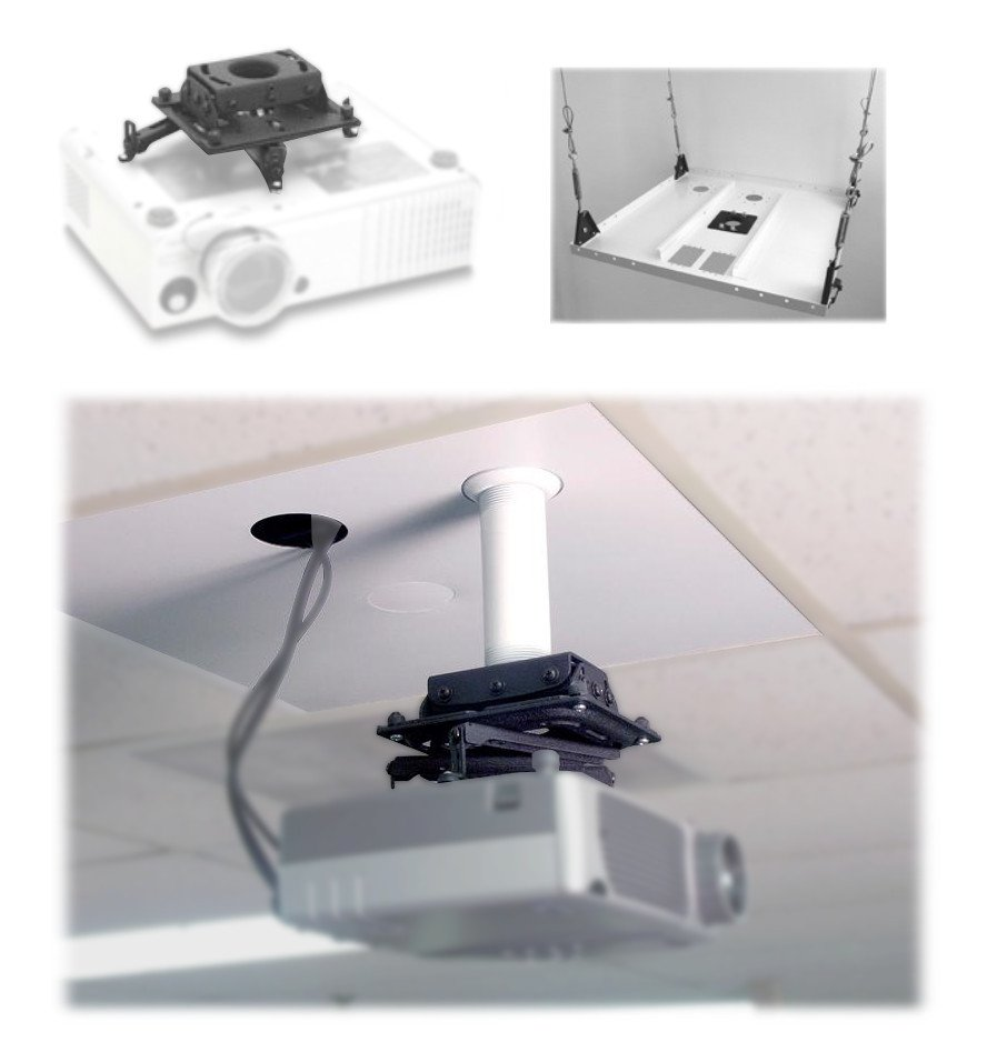 Universal Ceiling Mount Kit for Projectors
