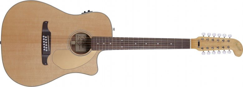 Natural Finish California Series 12-String Acoustic/Electric Guitar with Fishman Isys III Electronics