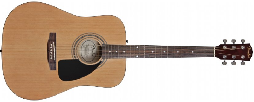 Natural Finish Dreadnought Acoustic Guitar with Accessory Pack