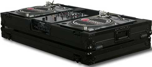 "Flight FX Series DJ Coffin with Wheels, for 2 Turntables in ""Battle Mode"" & a 10"" W Mixer"