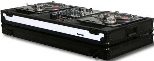 "Flight FX Series DJ Coffin with Wheels, for 2 Turntables in ""Battle Mode"" & a 12"" W Mixer"
