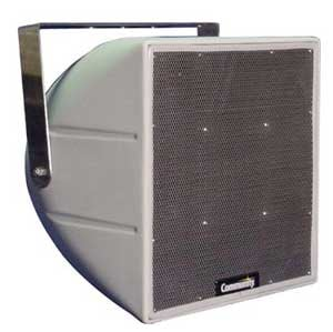 2-Way Coaxial Weather Resistant Full-Range Loudspeaker with 70V Transformer and 90°Hx90°V Dispersion