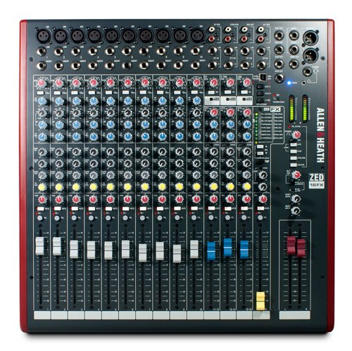 Allen & Heath ZED-16FX Mixing Console with USB Port ZED-16FX