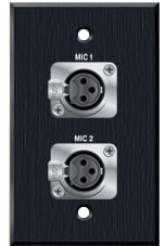 Two XLR-F for Mics on 1 Gang Wallplate