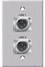 2 XLR-M on 1 Gang Wallplate