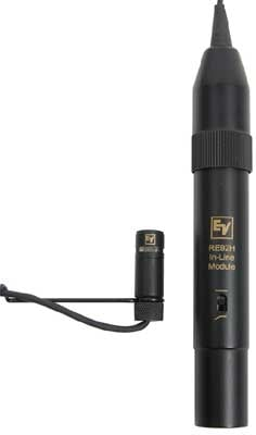 Hanging Choir Mic with 25' Cable, Black