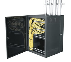 "Data Wall Cabinet, 12space, 22"" deep"