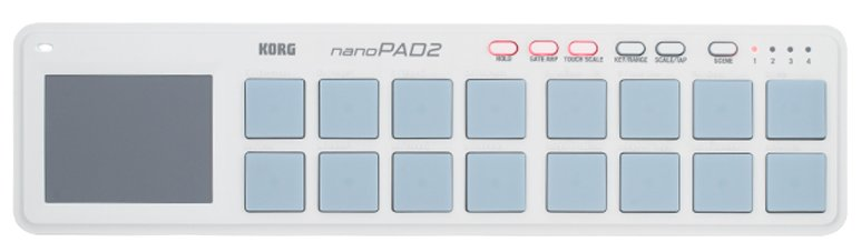 Drum Pad Controller USB in White