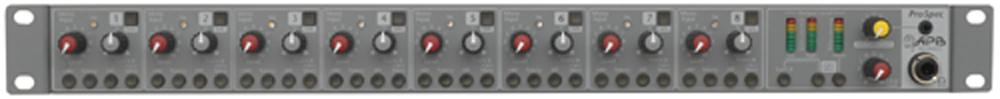 Mixer,1U Rack, 4 Mic/4 Line