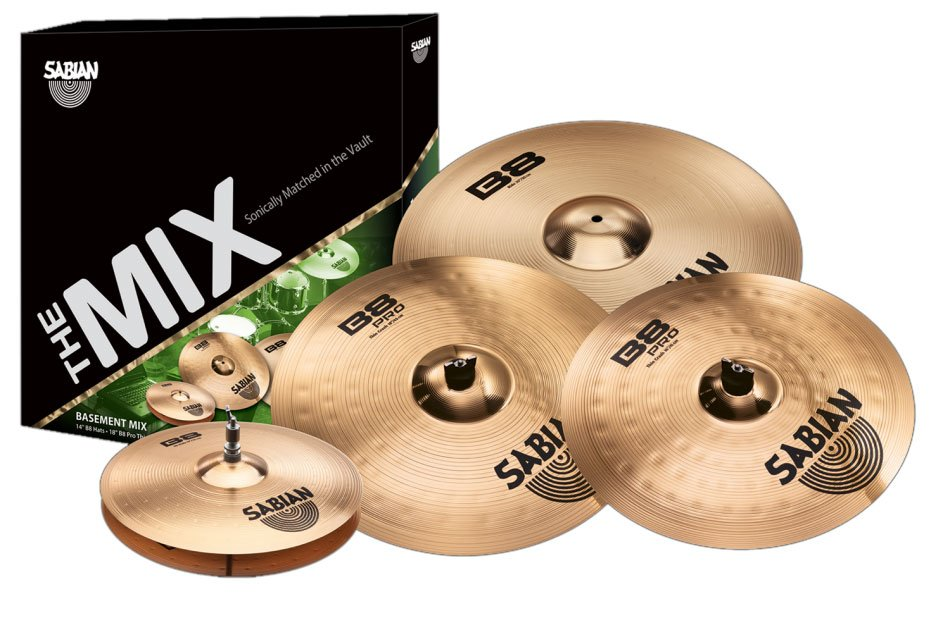 "B8/B8 Pro Basement Cymbal Set with B8 14"" Hi-Hat/ 20"" Ride and B8Pro 16""/18"" Crash Cymbals in Natural Finish"