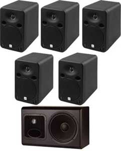 5.1 Surround System with RMC Room Mode Correction and RMC Calibration Kit. Includes LSR6325P (x5) and LSR6312SP (x1).