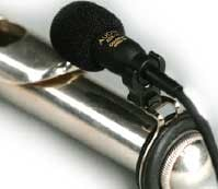 Flute Microphone with Shock Absorbant Clip, Cardioid, Condenser, Includes APS-910 Phantom Power Adapter