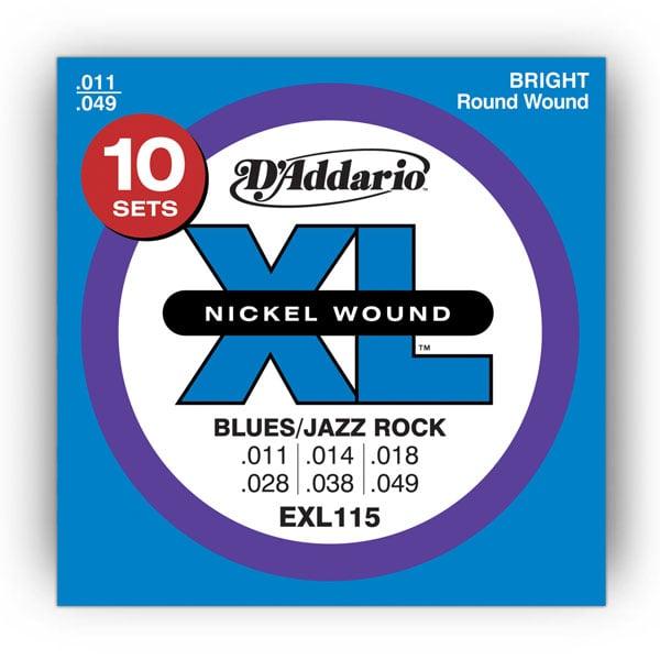 "10 Pack of .011-.049"" Electric Guitar Strings"
