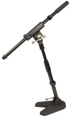Low-Profile Microphone Stand for Bass Drums and Guitar Amplifiers