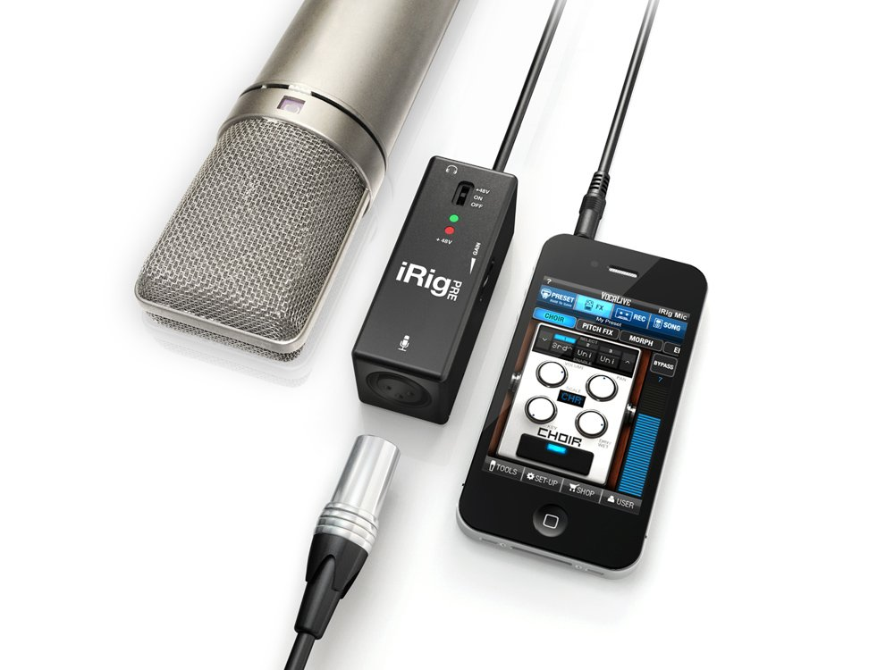 IK Multimedia iRig PRE Microphone Interface for iPhone, iPod Touch and iPad IRIG-PRE