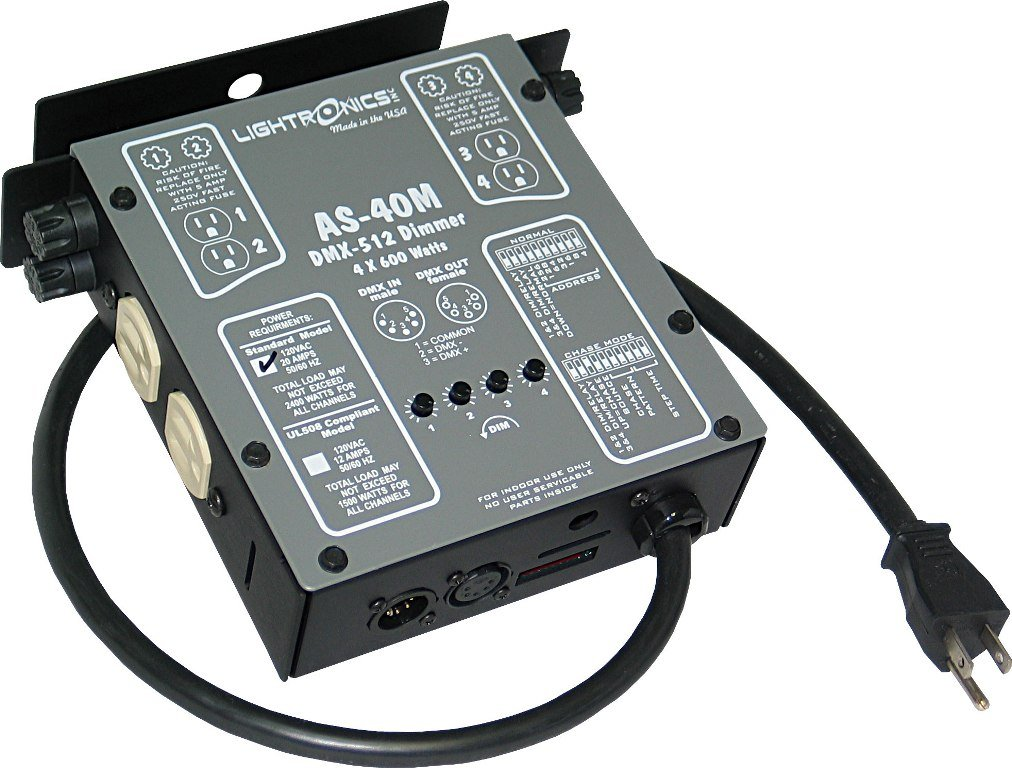 4 Channel Compact DMX/Manual Dimmer